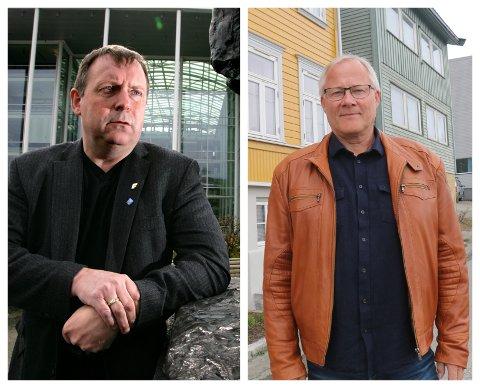 REAGERER: Jan Blomseth (til venstre) mener gebyrøkningen er altfor kraftig i Tromsø. Børge Martinussen i Huseiernes landsforbund advarer mot enda større økning i de samlede bokostnadene i Tromsø.