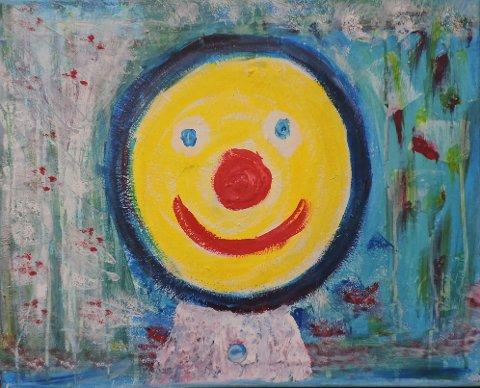 KLOVN ELLER SMIL: Inga Lome tar med dette bildet 5. oktober på PopUp-kunstutstillinga hos Fred og Wilma i Odd Fellow-gården