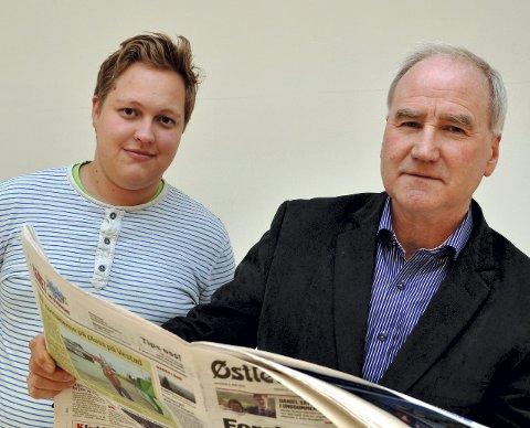 GODT FORNØYD: Ordførerne Espen A. Kristiansen og Ole Martin Norderhaug er godt fornøyd.FOTO: RANDI UNDSETH