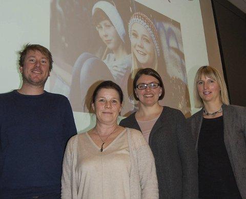 DE SKAL STYRE PROSJEKT: Fra venstre: Asle Bentsen (KoRus-Sør), Mona Kluck og Kjersti Norgård Aase (begge Telemark fylkeskommune) og Rosanne Kristiansen (KoRus-Sør). Foto: Hilde Evensen Holm