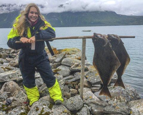Og litt smått: Adrianne Tenstad Jørgensen med det som etter hvert nærmest fortonet seg som agnfisk.