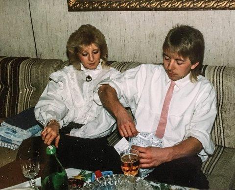 FORLOVET: Anne Marie Andersen og Han Jørgen Alstadsæter forlovet seg noen måneder etter at de ble et par.