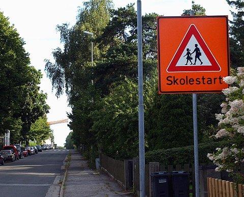 SKOLESTART: Politiet vil være på plass både i Sandesundsveien og en en rekke andre skolevei i ukene som kommer.