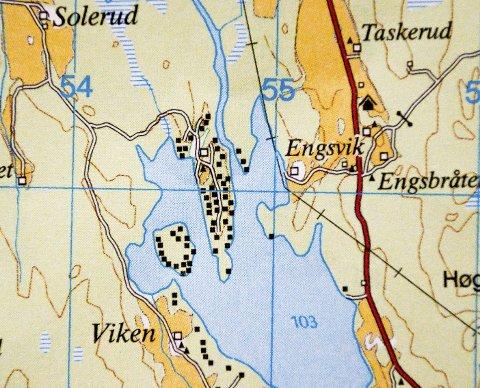 Viksøya: Viksøya innerst i Østre Otteidvika er tett bebygd med hytter. Mellom øya og fastlandet er det 15 meter på det smaleste.