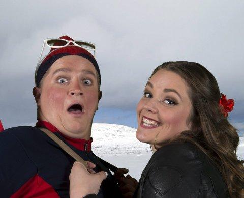 NY: Erlend Ytterhaug er ny aktør i musikkteateret Tuschke, mens Oda Isabella Smit Ødegård er med videre fra den første oppsetningen. Foto: Svein Eggan.