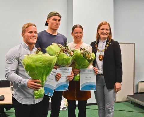 Morten Thoresen (22), Vebjørn Moen (21) og Vilde Haug (25) ble hedret med hvert sitt kulturstipend fra Bodø kommune.