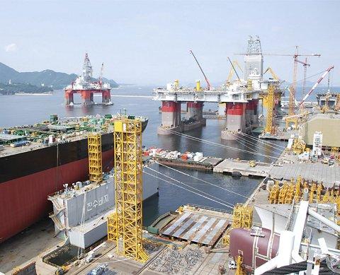 SAMSUNGVERFTET: Her ved Samsung-verftet i Sør-Korea bygges dekket til Mariner-plattformen. Byggingen er forsinket, og planlagt oppstart av produksjonen på feltet er satt til 2017.