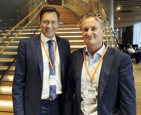 Bent Gjendem (f.v.), administrerende direktør i Monobank og Tom Henning Rimestad, driftsdirektør i Monobank.