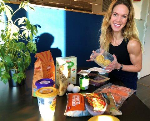 MAT: For å lykkes i fitness-sporten er maten helt avgjørende. Lena Johansen har, ved hjelp av veilederne i Team Toppform, full kontroll på matinntaket i perioden før konkurranse og da går det mye i kjøtt, fisk, pasta, ris og grønnsaker.