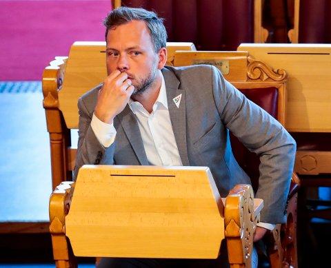 Oslo  20180516. Audun Lysbakken (sv) under Spørretimen på Stortinget onsdag. Foto: Lise Åserud / NTB scanpix