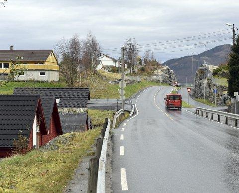NY VEG: Her ser vi litt av den nye vegen gjennom Lundsneset.
