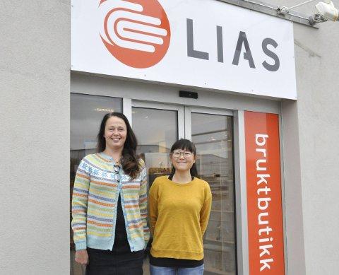 Har fått nye lokaler: Ragnhild Krogh og June Larsen er storfornøyd med de nye lokalene på Vorsetøya. Onsdag åpnet LIAS bruktbutikk i de gamle lokalene til Eurospar. Alle Foto: Synne Mauseth