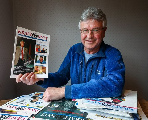 STOR JOBB: Erik Opperud har samlet alle utgavene av Petersons bedriftsblad gjennom 60 år og gjort de digitalt tilgjengelige for publikum.