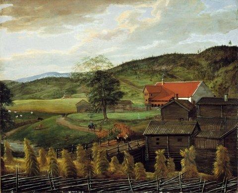 Godseier: Oslo Hospital i Gamlebyen eide Bogerud fra 1300-tallet og forpaktet bort gården til leilendinger. En del av avlingene ble brukt i hospitalets husholdning.  I 1831 og 1840 ble de to Bogerud-gårdene solgt på auksjon. Foto: Oslo Museum