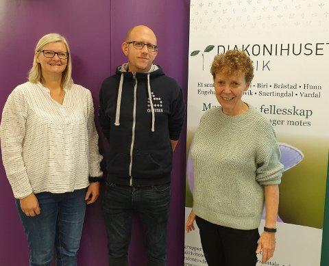 Fra venstre: Hilde Kristin G Jarlvang, Christian Sporild og Kari K Korslien.