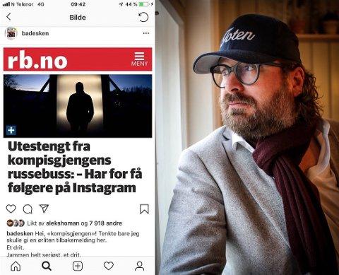 VISER STØTTE: Russen som fortalte sin historie om utestenging i Romerikes Blad har fått mye støtte. Ken André Ottesen, mannen bak Instagramkontoen BA-desken, ble provosert av å lese om 17-åringen.