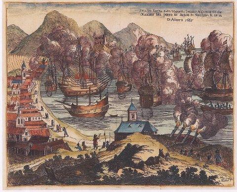 Mange kunstnere lot seg inspirere av de dramatiske timene der nesten 200 mennesker ble drept og nærmere 600 skadet. Her et maleri av Arnold Bloem fra cirka 1670.