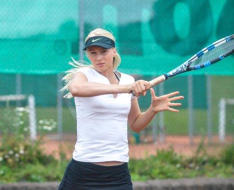 NÅDDE SEMIFINALE; Andrea Raaholt, Drammen TK, nådde semifinalen i årets norgesmesterskap.