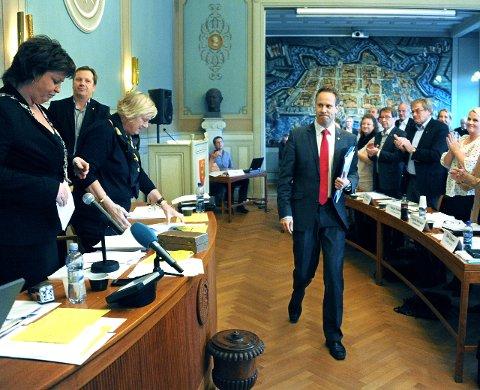 Bystyret: Da Jon- Ivar Nygprd ble ordfører i 2011.