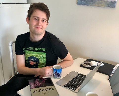 KARANTENE: Jakob Mohus (23) måtte i hjemmekarantene etter å ha vært på ferie i Frankrike.