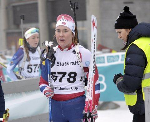 Mathea Tofte gikk inn til fherdeplass i K20-21 under junior-NM i Holmenkollen fredag.