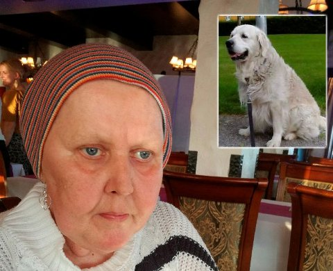 Gudrun Bakken (66) fra Lillehammer har en syk hund hjemme etter et angrep fra en annen hund. - Jeg forteller dette til skrekk og advarsel for andre hundeeiere.