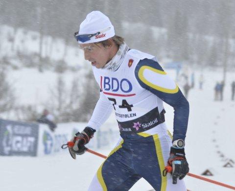 FRAMGANG: Karstein Johaug jr. har tatt et stort steg som langrennsløper denne sesongen. I norgescupåpningen på Gålå ble Gran-løperen nummer 17 på sprinten.