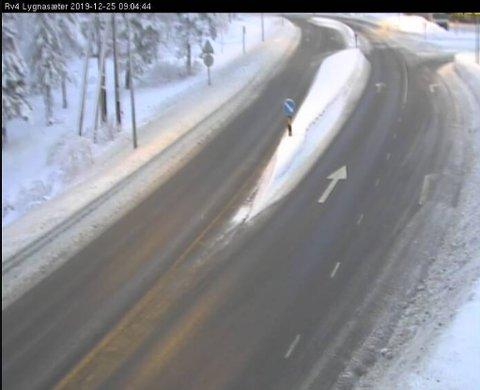 Riksveg 4 ved Lygnasæter klokken 09.04.