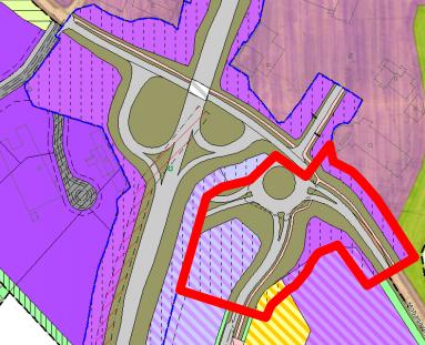 Oppheves: Den delen av planen som ønskes opphevet er markert med rødt.