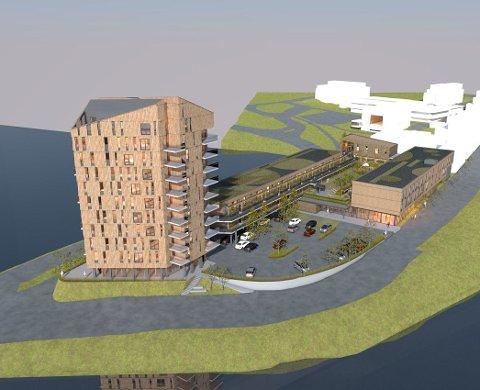 ØST: Tårnkvartalet er planlagt på Coop-tomta på Jevnaker. Statlige myndigheter krever ny behandling av områdeplanen. Det sier Jevnaker kommune nå ja til.