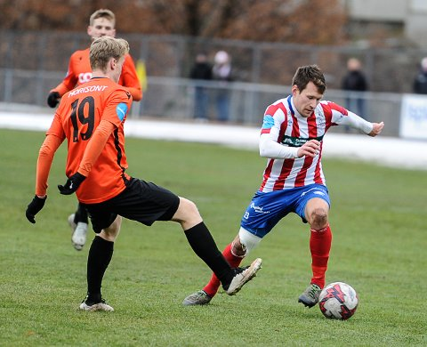 TABBE: Mathias Engebretsen gjorde en sjelden tabbe ved 1-2 målet.