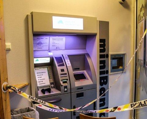 OPTIMISTISKE: Politiet ser optimistisk med tanke på oppklaring det grove tyveriet fra minibanken i Aremark (bildet) og et innbruddsforsøk ved en minibank på Ørje.