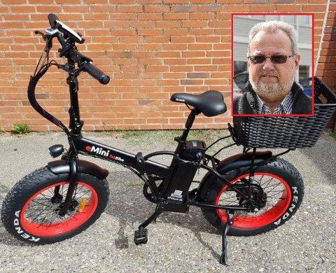 UTLYSER DUSØR: Bent Skogli ble frastjålet sin sjeldne sykkel og vil nå belønne tips som fører til at sykkelen kommer tilbake.