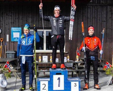 Til topps i NM: Vetle Rype Paulsen kunne ta steget opp på det høyeste trinnet på pallen under junior-NM i skiskyting på Lygna.