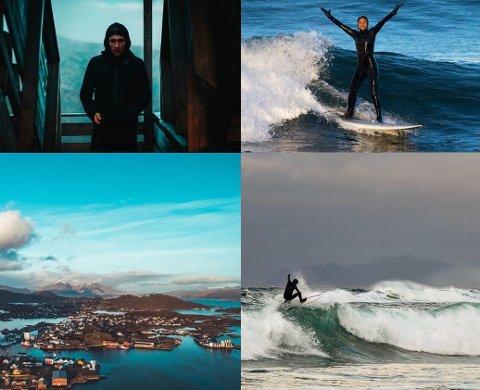 VINNERE: De to bildene til venstre er hentet fra profilen til Kristoffer Lorentzen og de to til  høyre er Nok Sandholm (Surfebeiben) sine.