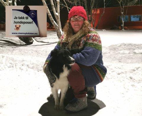 Tanya Wahl med hunden Kiro.