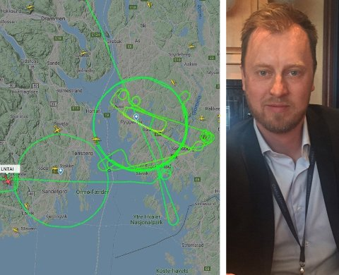 BAK SPAKENE: Geir Jensen i Sundt Air satt bak spakene på flyet som fikk flere til å lure i forrige uke.