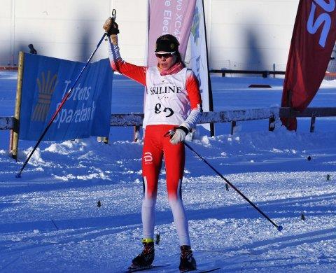 TIL TOPPS: Malin Hoelsveen fra raufoss var suveren i 16-årsklassen på Veldre.