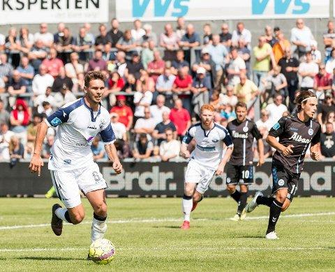 KLAR: Mikkel Frankoch er har skrevet toårs-kontrakt med Raufoss. Her i aksjon for Vendsyssel i den danske Superligaen.