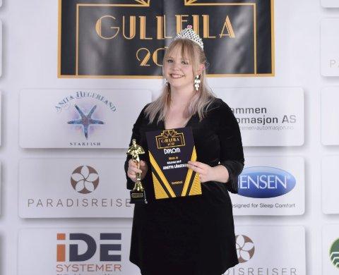 Til topps: Anette Lågstad, vinner av «Gullfila 2017»