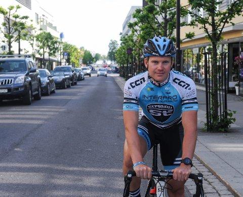 GÅR «ALL IN» PÅ HJEMMEBANE: Ken-Levi Eikeland er fra Lardal, men har representert Sandefjord sykleklubb i flere år. For 23-åringen er derfor NM i hvalfangerbyen sesongens store mål.