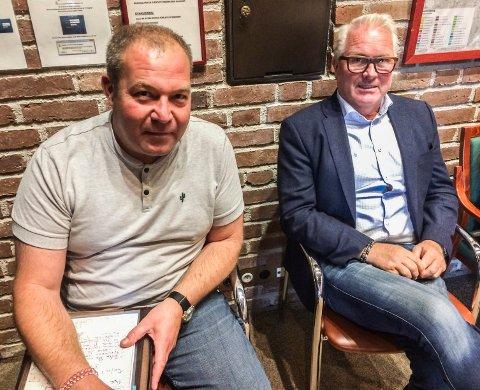 TILHØRERE: Rune Ramberg (t.v.) og Tore Westrum i Westrum Holding fulgte spent med da planutvalget sa nei til bolig- og næringsprosjektet deres i Soleveien og Hystadveien.