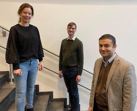 LEDERTROIKA: Maria Heskestad Lund fra Sandnes utgjør sammen med Gaute Brækken og Salim J. Øndes fra Stavanger toppledelsen i det nye fylkeslaget.