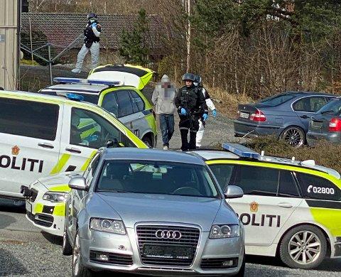 LØSLATT: Tre menn ble arrestert i aksjonen i Bamble fredag, men allerede dagen etter var samtlige løslatt.