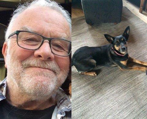 FUNNET: 71 år gamle Erling Stranden og hunden Siri var savnet i nesten 24 timer før de ble funnet. Nå er Erling på bedringens vei.