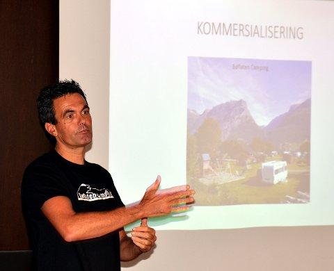 Nettverk: René van den Berg fra Bøflaten Camping fortalte om økt turisme og overnattinger som en følge av satsinga på den gamle Kongevegen over Filefjell mellom Vang og Lærdal.