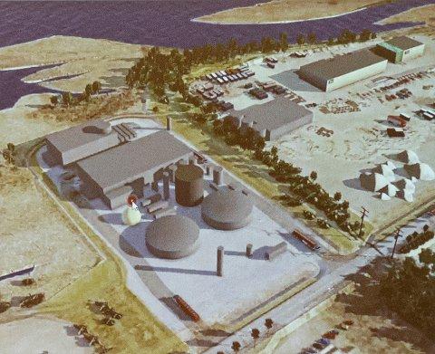 Anlegget: Ottem ligger oppe i høyre hjørne, og den nye mottakshallen ligger på grensen mellom Ottem og Ductor. Dermed vil transporten av råstoff inn til anlegget gå over Ottem sitt anleggsområde. Ductor har også innkjørsel fra Industrivegen. Mest synlig fra vegen blir tre tanker, og bak der ligger prosesshallene for biogassanlegget.