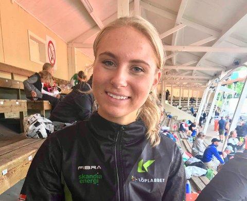 RISØR MOT NORDEN: Anne Hjorth Arntsen (18) skal løpe 800-meteren under nordisk mesterskap i juniorklassen søndag.