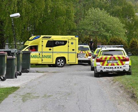 Politiet pågrep én person i Lier mandag ettermiddag.