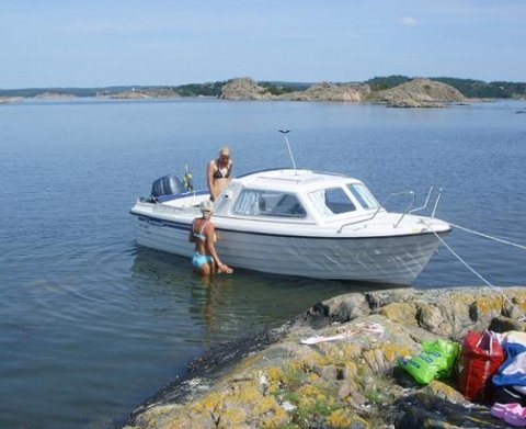 BÅTEN: Båten som er stjålet er av denne typen, en Crescent 535.